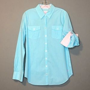 Lilly Pulitzer Womens Button Front Shirt S Check